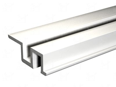 Rail PVC blanc - 3 m