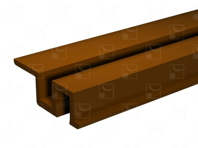 Rail PVC marron - 3 m