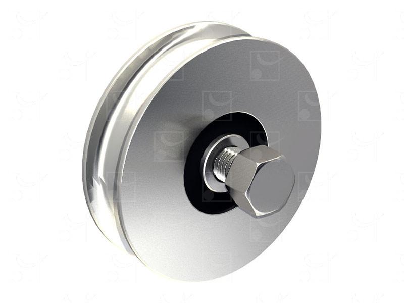 Sliding gates – Steel wheels – Round groove wheels - Image 1