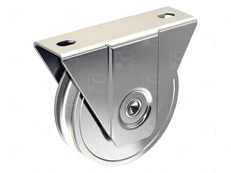 Portails sur rails au sol – Montures à support extérieur en acier – Galets gorge ronde - Image 1