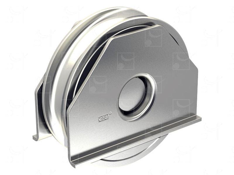 Portails sur rails au sol – Montures à support intérieur en acier à souder - Image 1