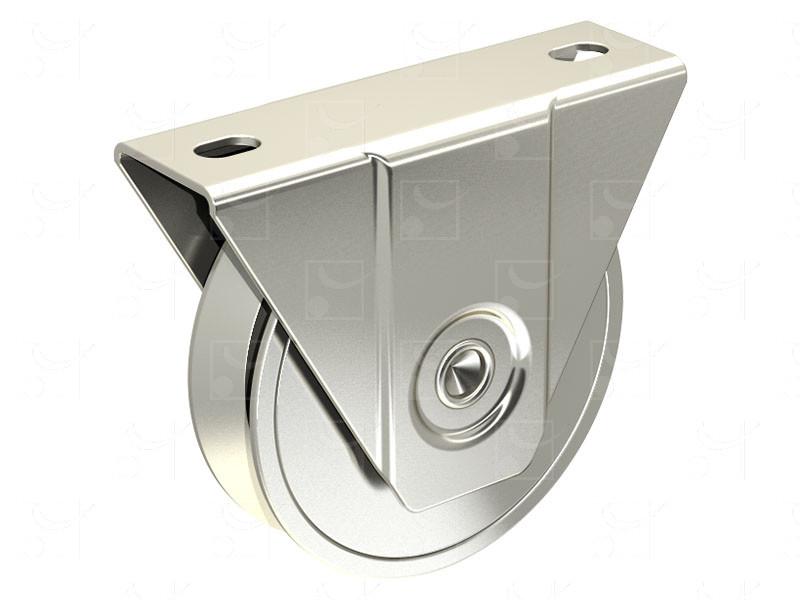 Portails sur rails au sol – Montures à support extérieur en acier – Galets gorge en V - Image 1