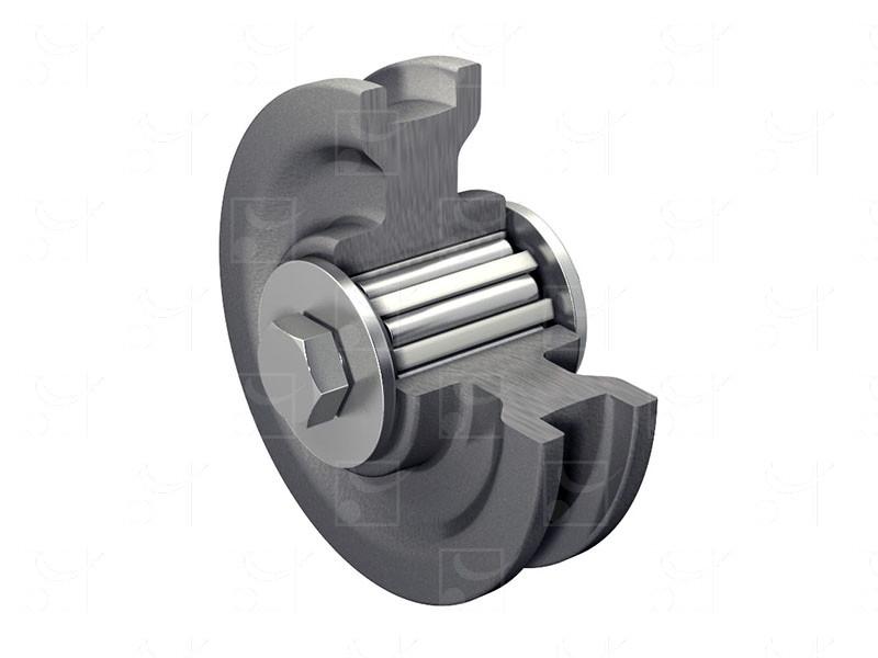 Portails sur rails au sol – Galets fonte sur rails ronds ou carrés - Image 1