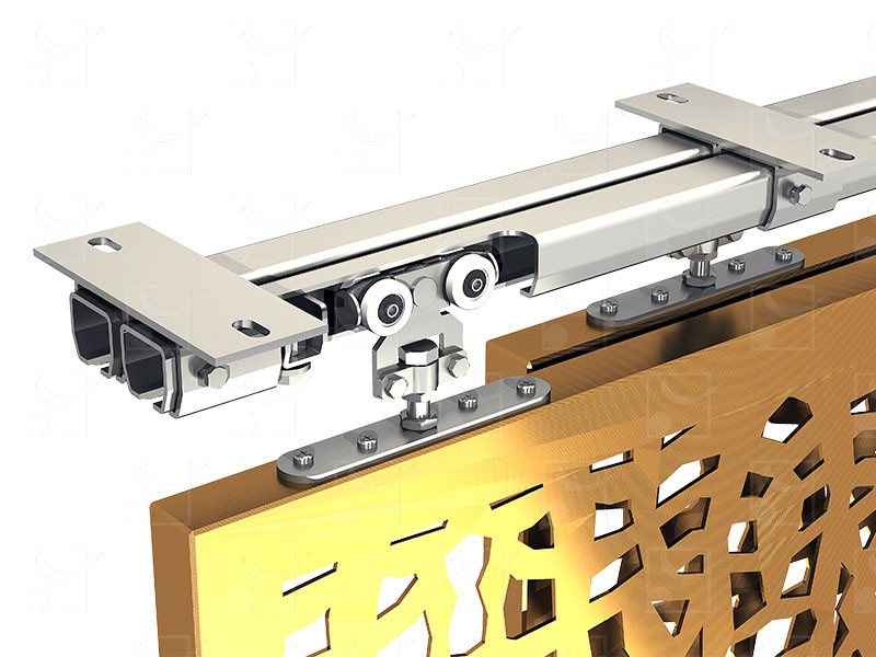 System for sliding shutters WIN-STH Inox A2 (304L) track – 200 kg - Image 1